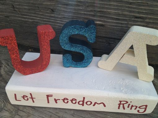 Custom Made Usa--Let Freedom Ring Block