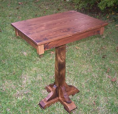 Custom Made Reclaimed Antique Chestnut Breakfast Pub Table