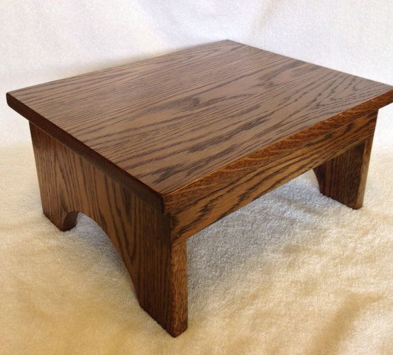 Super Custom Made Oak Step Stool By One21 Rustic Works Gmtry Best Dining Table And Chair Ideas Images Gmtryco