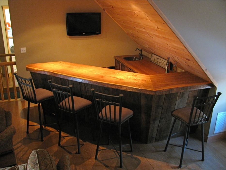 Custom Made Rustic Bar By Custom Rustic Furniture By Don