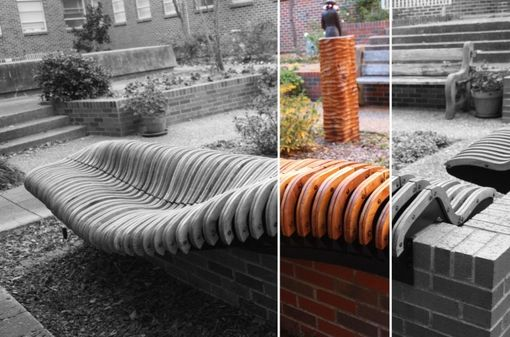 Custom Made Courtyard Benches