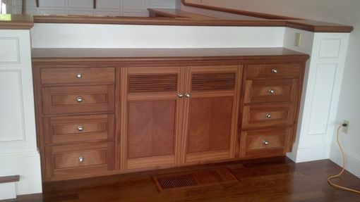 Custom Made Built-In Sideboard Table
