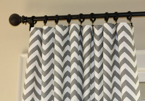 Custom Made Custom Designer Curtains: Riley Blake Indie Chic Zig Zag Chevron 90l X 40w