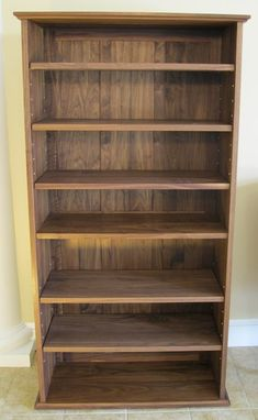 Custom Made Book Case W/Raised Panel Back