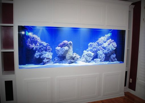 Handmade White Aquarium Stand By Belak Woodworking Llc