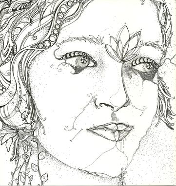 Custom Made Pen And Ink Drawing Of A Woman