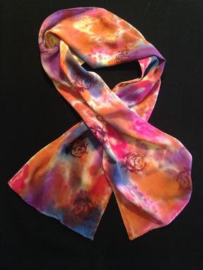 Custom Made Rayon Bamboo Rose Scarf