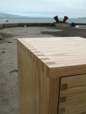 Custom Made Side Tables – Floating E – Box Joint