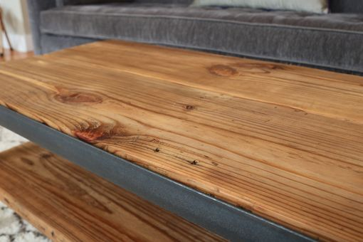 Custom Made The Calumet Coffee Table // Reclaimed Wood Planks & Steel