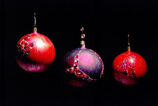 Custom Made Hand Painted Pomegranate Christmas Ornament