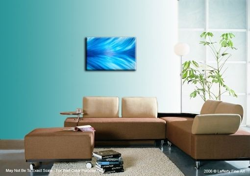 Custom Made Abstract Blue Original Painting By Laffertyart Sale 22% Off