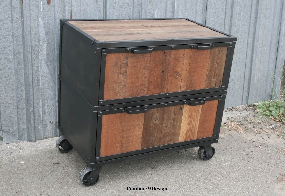 Antique Storage Cabinets Buy A Hand Made Vintage Industrial File Cabinet Reclaimed Wood