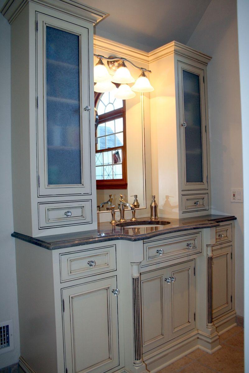 Custom Made Custom Traditional Painted Bathroom Vanity