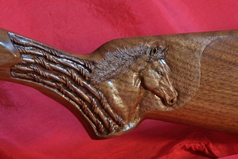 Custom Gunstock Carving By Carving Dreams In Wood