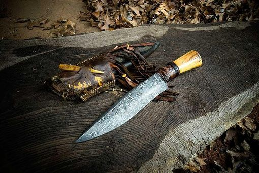 Custom Made Damascus Mammoth Chopper Blade