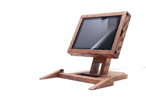 Custom Made Woodwarmth Pos Stand With Keyboard Attachment