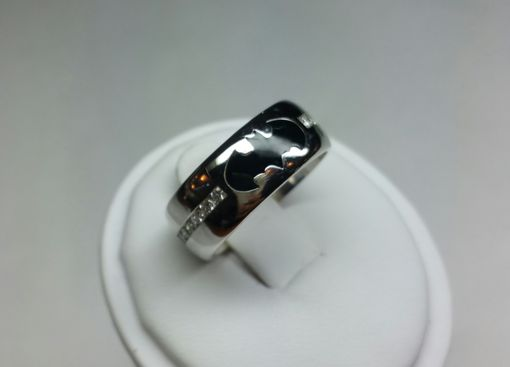 Custom Made Custom Made Batman Wedding Band With Diamonds.