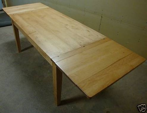 Custom Made New Solid Hard Maple Wood Harvest | Farm Country | Kitchen 2 Leaf Table