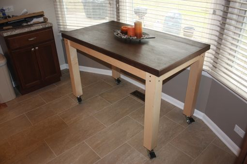 Custom Made Solid Walnut Kitchen Table/ Work Table