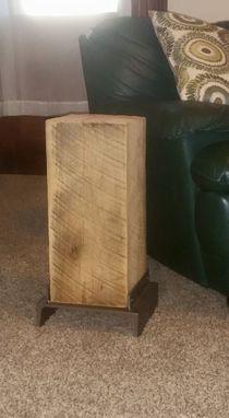 Buy A Custom Made Reclaimed Barn Beam Side Table Made To