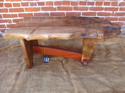 Custom Made Walnut And Red Gum Eucalyptus Coffee Table