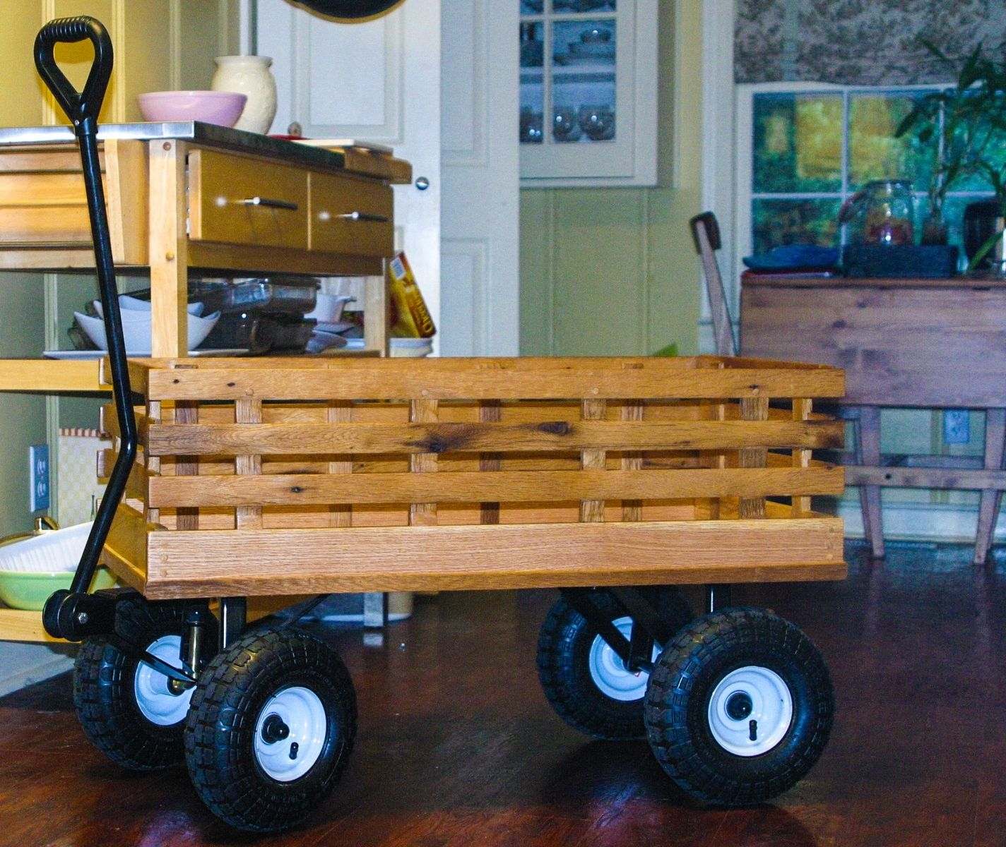Custom Wagon From Reclaimed Oak By William Ney, LLC