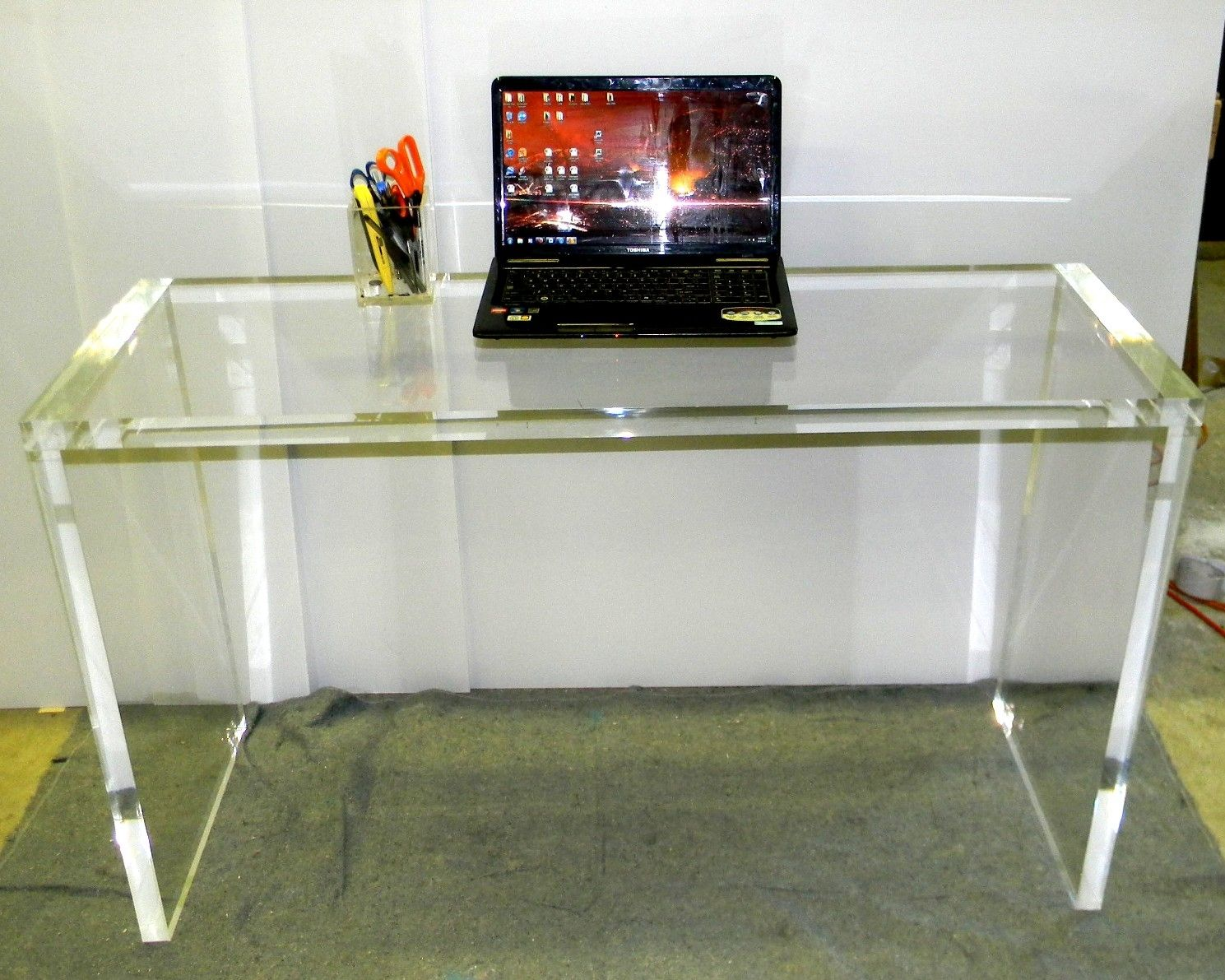 Hand crafted acrylic entryway console table in 15 by custom hand crafted acrylic entryway console table in 15 by custom acrylic lucite creations by matthew james custommade geotapseo Gallery