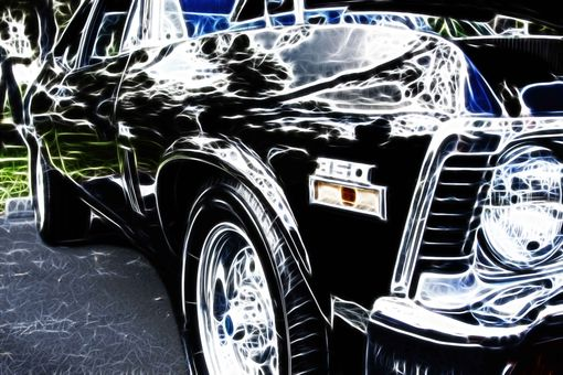 Custom Made Fine Art Photograph Of Classic Car