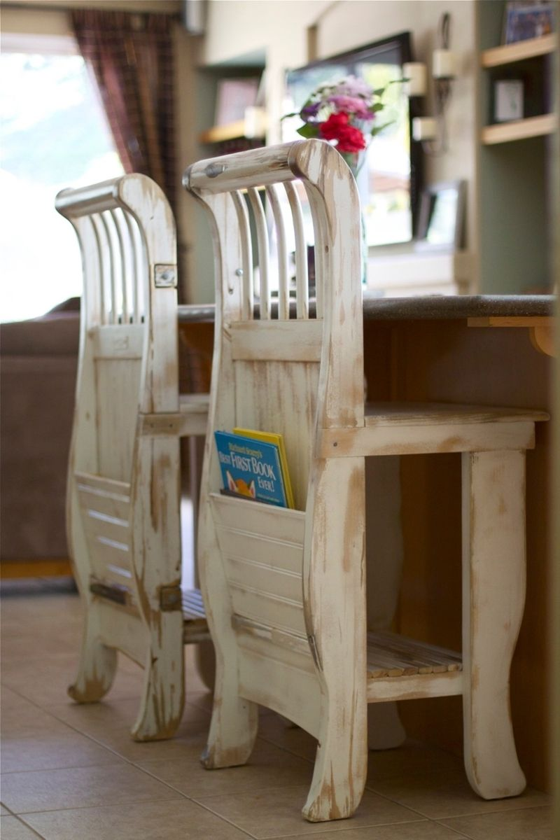 custom shabby chic crib stools by thecarpenterant. Black Bedroom Furniture Sets. Home Design Ideas