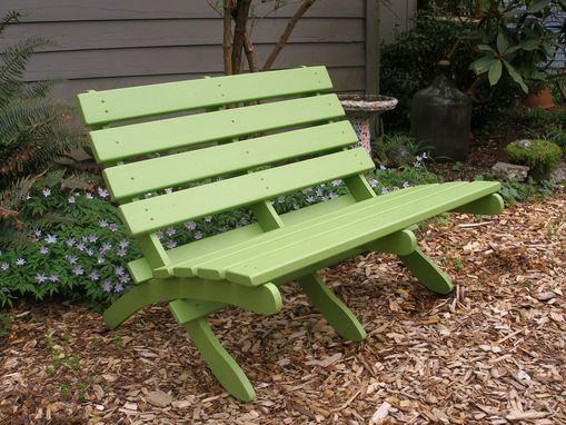 Custom Made Classic Style Folding Cedar Love Seat - Comfortable, Colorful & Storable - Choose From 15 Colors