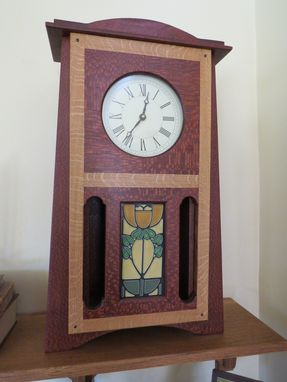 Custom Made Mantel Clock Featuring Craftsman Tile