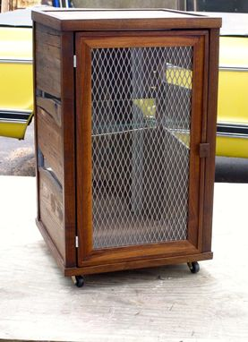 Custom Made Custom Scotch Display Cabinet In Reclaimed Pallet Wood And Walnut