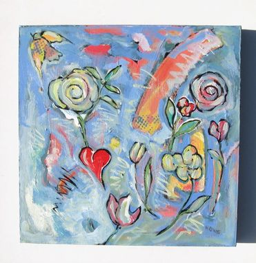 "Custom Made Pastel Acrylic Abstract Expressionist Painting ""My Heart"""