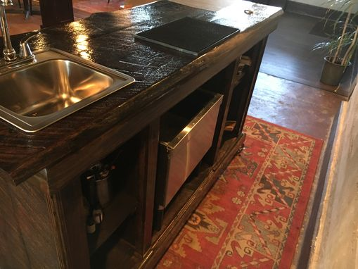 Custom Made Handcrafted Solid Oak Bar