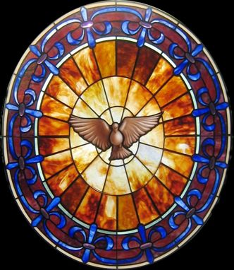 Custom Made Holy Spirit Window