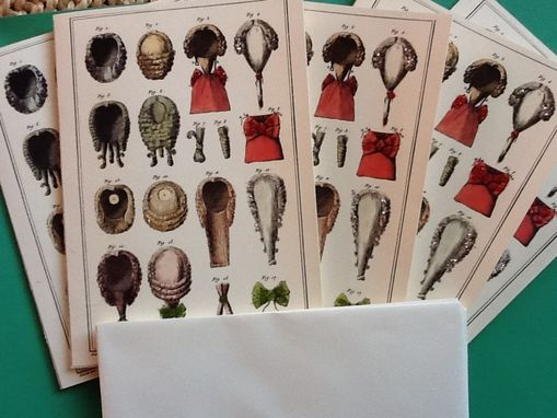 Custom Made Old Wigs Glittery Notecard Set