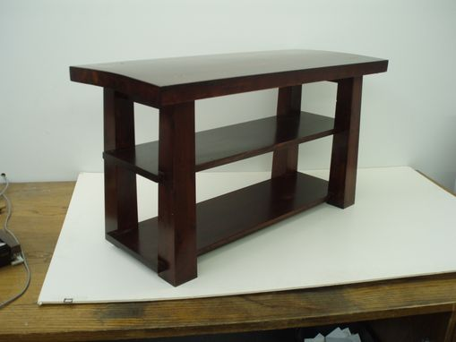 Custom Made Genkan Bench / Entryway Bench In White Oak And Fir