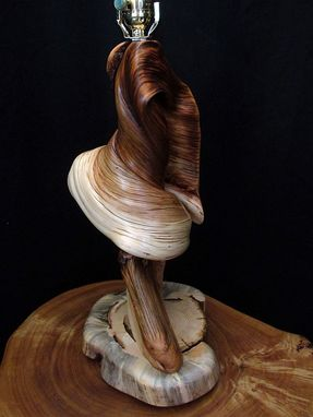 Custom Rustic Twisted Juniper Log Table Lamp Wood Home