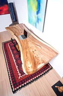 Custom Made Live Edge Wood Table - Perfect For Home Office Desk