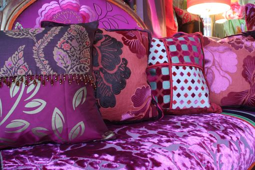 Custom Made Upholstered Victorian Settee Upholstered In Designers Guild Fabric