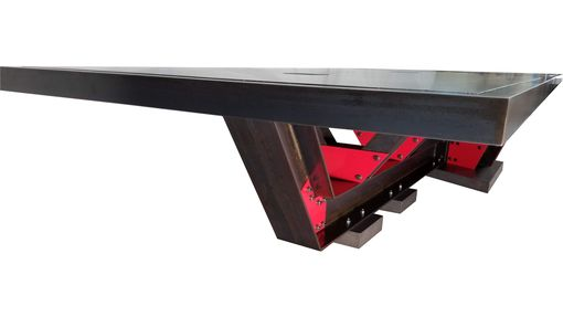 Custom Made Steel And Concrete Conference Table, Industrial Style I-Beam Base