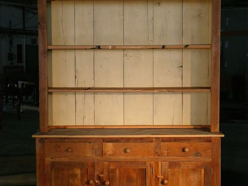 Custom Made Open Top Hutch With Server Base