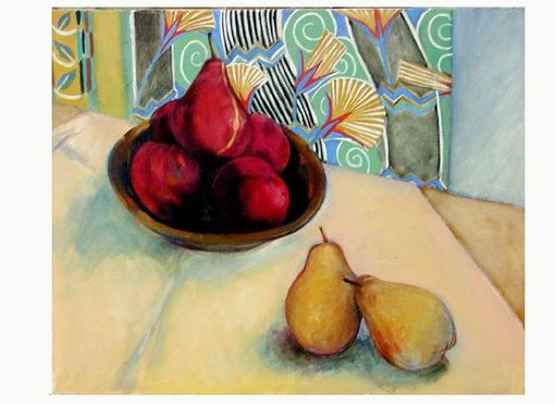 Custom Made Painting Peaches An Pears, By Maggie Schmidt