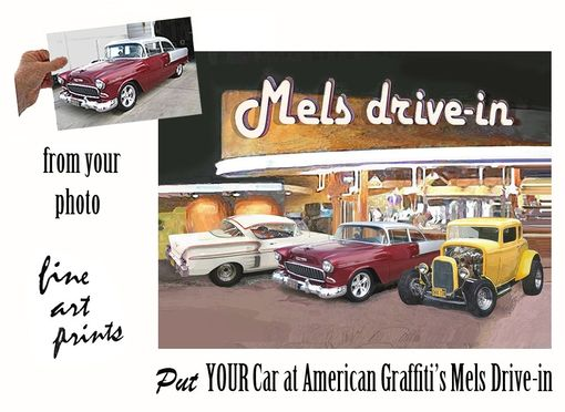 Custom Made Your Car At Mels Drive-In - Automotive Art