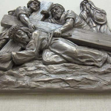 Custom Made 14 Stations Of The Cross Approx.17x16 X1 1/2  Inch.