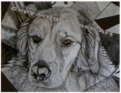 Custom Made Golden Retriever Portraits , Prints