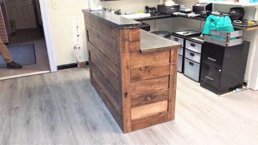 Custom Made Reclaimed Wood Reception Desk
