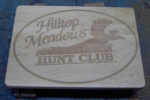 Custom Made Engraved Cutting Board - Personalized With Company Logo