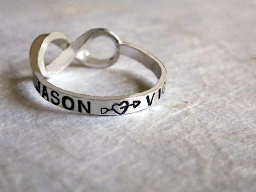 Custom Made Always And Forever Ring With Infinity Symbol