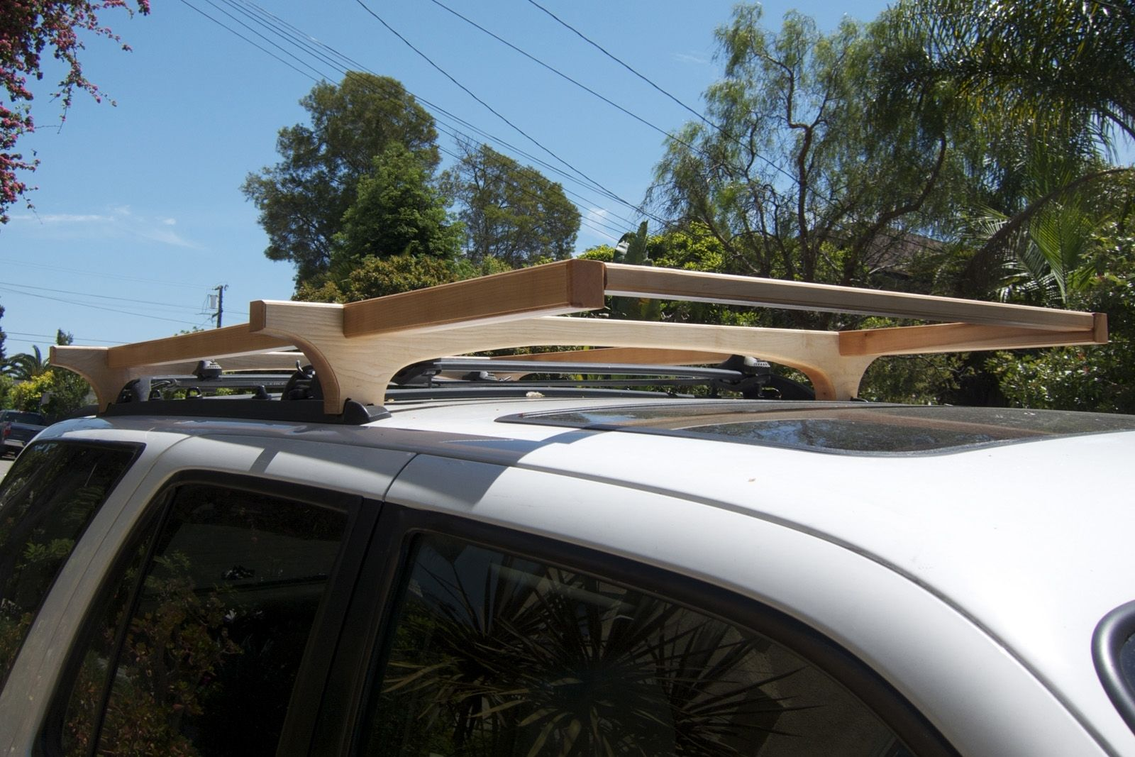ladder foxwing products for roof ca rack en suv rhino eco racks vortex